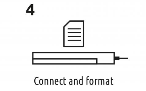 Connect and format